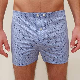 Blade + Blue Pale Blue Circle Dot Print Boxer - Carly