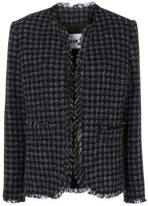 MSGM houndstooth check coat