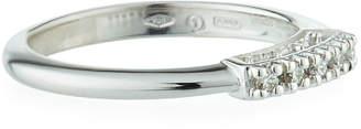 Salvini 18k White Gold 5-Diamond Ring, Size 7.25