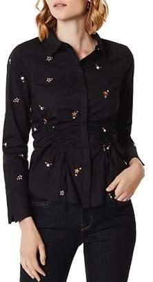 Karen Millen Star Ruched Drawstring Shirt