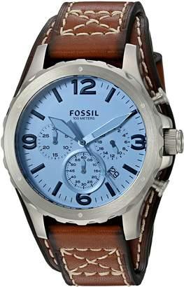 Fossil Men's JR1515 Nate Chronograph Light Leather