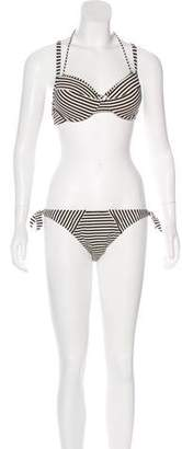 Marlies Dekkers Striped Two-Piece Swimsuit w/ Tags