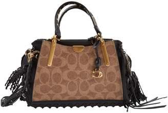 Coach Brown Cloth Handbag