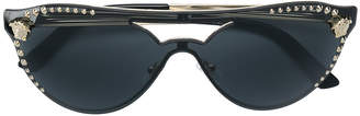 Versace Eyewear studded cat eye sunglasses