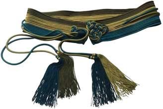 Saint Laurent Vintage Blue Cloth Belts