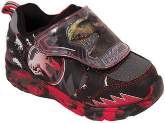 JURASSIC WORLD Jurassic World Black/Red Light-Up Athletic Boys Hook and Loop Sneakers- Toddler