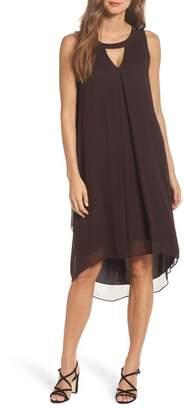 Nic+Zoe Keyhole High/Low Dress