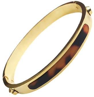 Sterling Forever Gold Tone Tortoise Bangle Bracelet