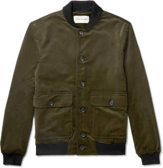 Oliver Spencer Stretch-Cotton Corduroy Bomber Jacket - Men - Green