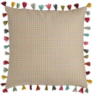 "Pine Cone Hill Borla Pillow with Tassel Fringe, 22""Sq."