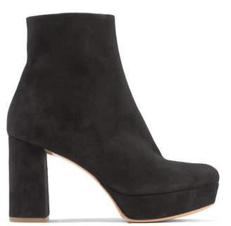 Mansur Gavriel Suede Platform Ankle Boots - Black