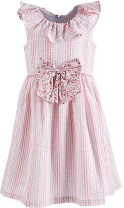 Bonnie Jean Toddler Girls Multi-Stripe Seersucker Dress
