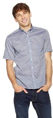 Clifton Heritage Men's Slim Fit Short-Sleeve Button-Down Casual Stripe Shirt XXL