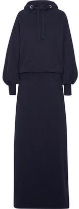 Maison Margiela - Hooded Cotton-jersey Maxi Dress - Midnight blue $1,030 thestylecure.com