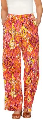 Denim & Co. Beach Ikat Printed Jersey Pants