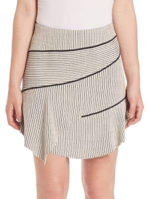 IRO Jasmine Asymmetrical Striped Skirt