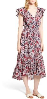 Lucky Brand Floral Print Flounce Dress