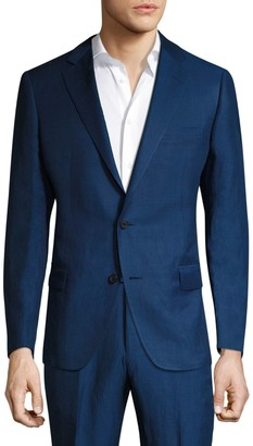 Saks Fifth Avenue BY SAMUELSOHN Classic-Fit Silk-Blend Double Button Jacket