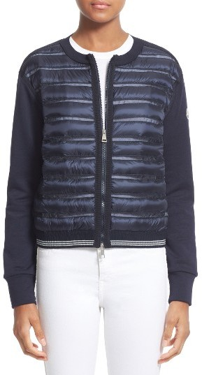 MonclerWomen's Moncler Quilted Down Front Knit Cardigan