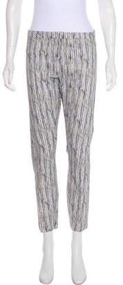 Theyskens' Theory Printed Mid-Rise Pants