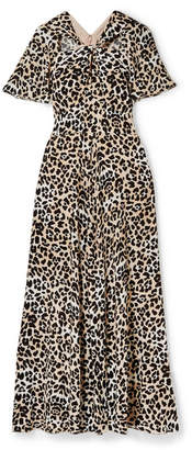 Temperley London Wild Cat Cutout Leopard-print Jersey Maxi Dress - Leopard print