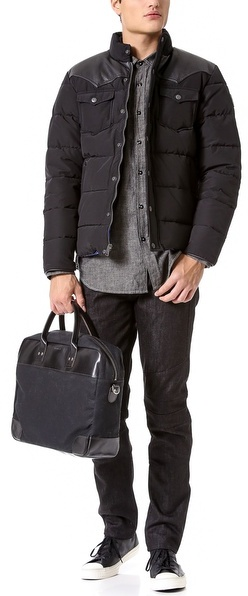 Billykirk Padded Briefcase with Leather Trim