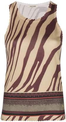 Roberto Cavalli zebra print knit top