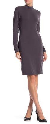FOR THE REPUBLIC Long Sleeve Mock Neck Jersey Dress