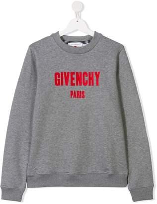 Givenchy Kids TEEN logo print sweatshirt
