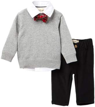Beetle & Thread Poplin Shirt, V-Neck Sweater, & Pants (Baby Boys)