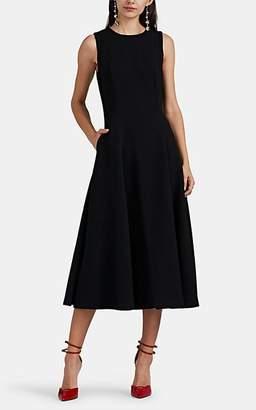 Lisa Perry Women's Wow Wool Crepe Fit & Flare Dress - Black