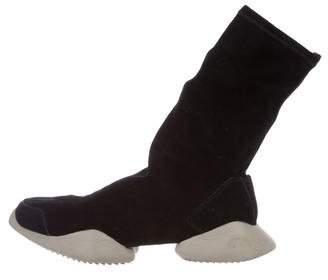 Rick Owens x Adidas Suede Runner Ankle Sneakers