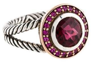 David Yurman Garnet & Pink Sapphire Petite Cerise Ring