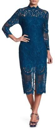 Yumi Kim Leading Lace Midi Dress