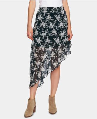 1 STATE 1.state Printed Ruffled Asymmetric Skirt
