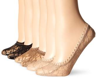 Hot Sox Women's All Over Lace Liner Sock