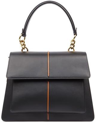 Marni Middle Black Attache Leather Bag