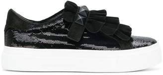 Kennel + Schmenger Kennel&Schmenger sequin and ruffle trim platform sneakers