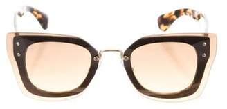 Miu Miu Butterfly Gradient Sunglasses