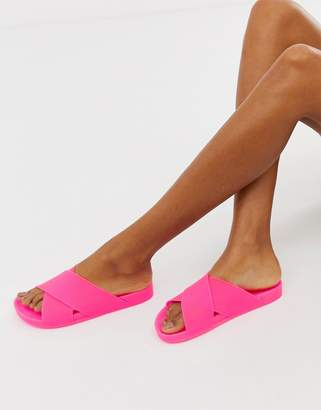 Asos Design DESIGN Fruity jelly flat sandals