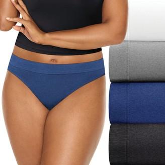 Playtex Women's 4-pack ComfortSoft Bikini Panties PLCSBK