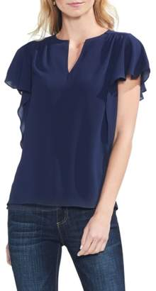 Vince Camuto Flutter Sleeve Textured Top