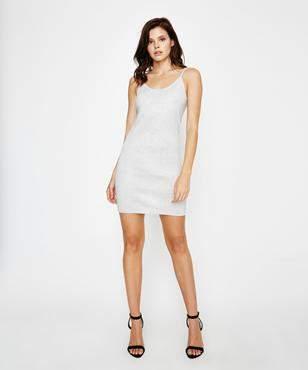 Metalicus Essential Sparkle Cami Dress Silver