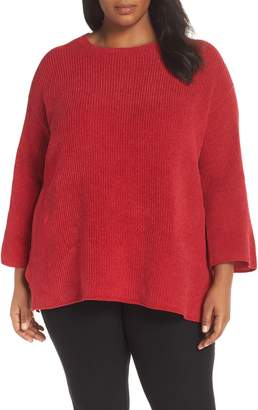 Eileen Fisher Ribbed Organic Cotton Chenille Sweater