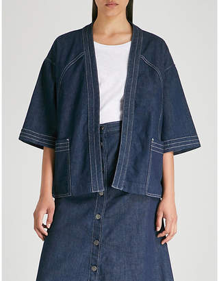 MiH Jeans Farrier stretch-denim kimono jacket