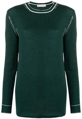 Marni round neck knit top