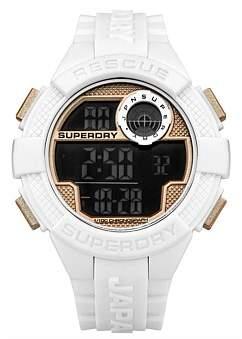 Superdry Mens Radar Digital White Silicone Strap Watch