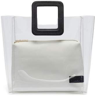 STAUD 'Shirley' leather handle PVC tote