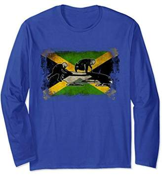 Jamaica Bobsled LS Shirt Bobsleigh National Flag