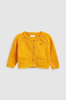 Next Girls Orange Corsage Cardigan (3mths-6yrs)